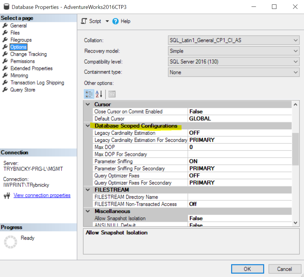 Configuration - Optimize for Ad-Hoc Workloads   Wetory