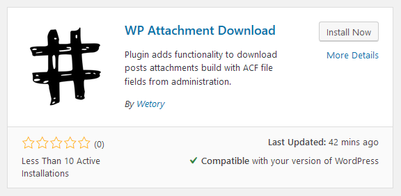 WP Attachment Download